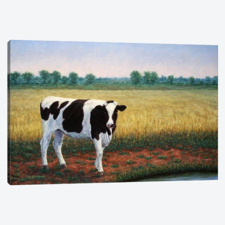 Happy Holstein Canvas Print #JJN24} by James W. Johnson Canvas Art Print