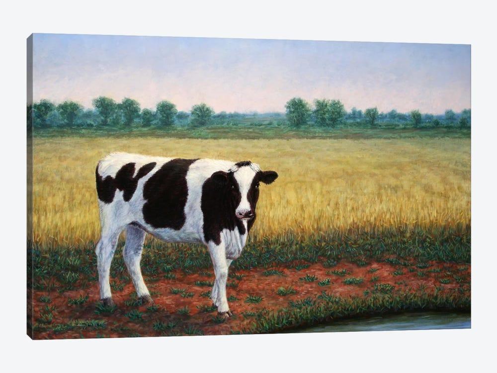 Happy Holstein by James W. Johnson 1-piece Canvas Art Print