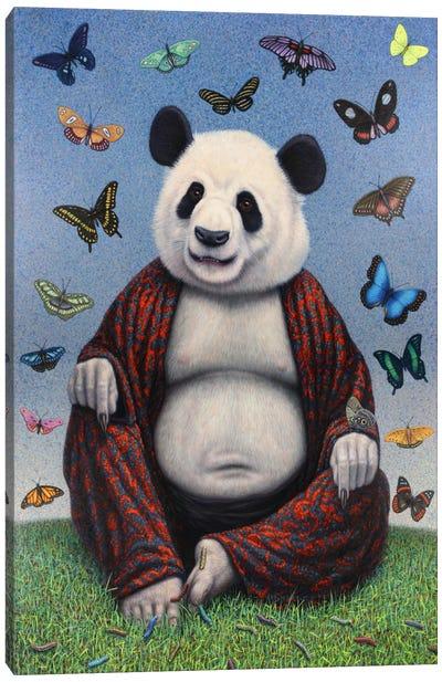 Panda Buddha Canvas Print #JJN30