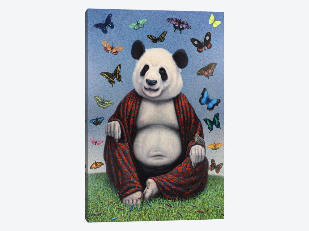 Panda Buddha by James W. Johnson 1-piece Canvas Artwork