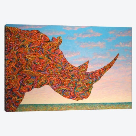 Rhino-Shape Canvas Print #JJN36} by James W. Johnson Canvas Art