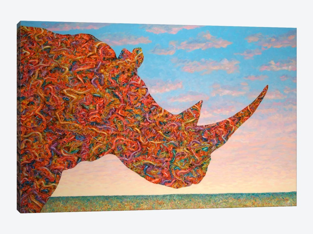 Rhino-Shape by James W. Johnson 1-piece Canvas Artwork