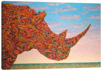 Rhino-Shape Canvas Art Print