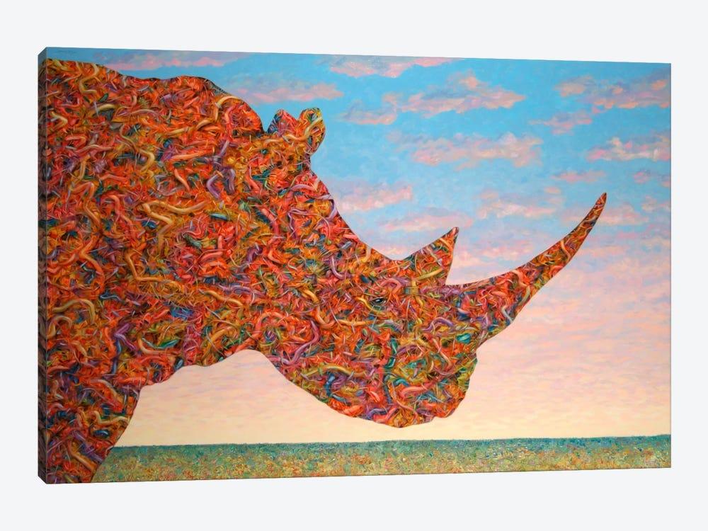 Rhino-Shape by James W. Johnson 1-piece Canvas Artwork