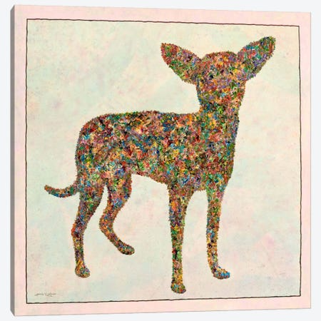 Chihuahua Shape Canvas Print #JJN56} by James W. Johnson Canvas Wall Art