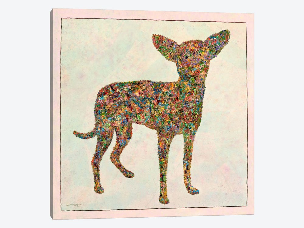 Chihuahua Shape by James W. Johnson 1-piece Canvas Wall Art