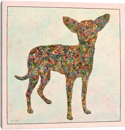 Chihuahua Shape Canvas Art Print