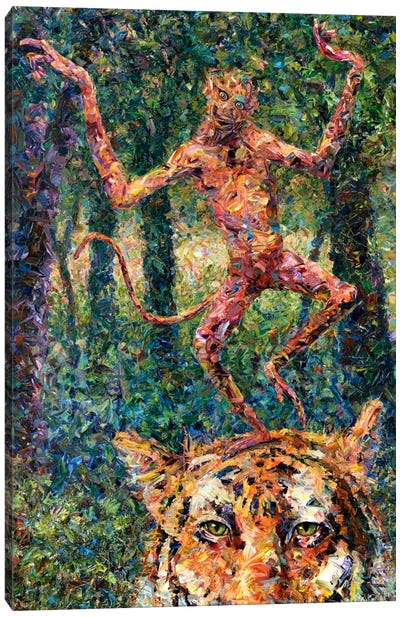 Crazy Monkey Canvas Art Print