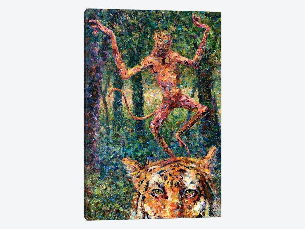 Crazy Monkey by James W. Johnson 1-piece Canvas Print