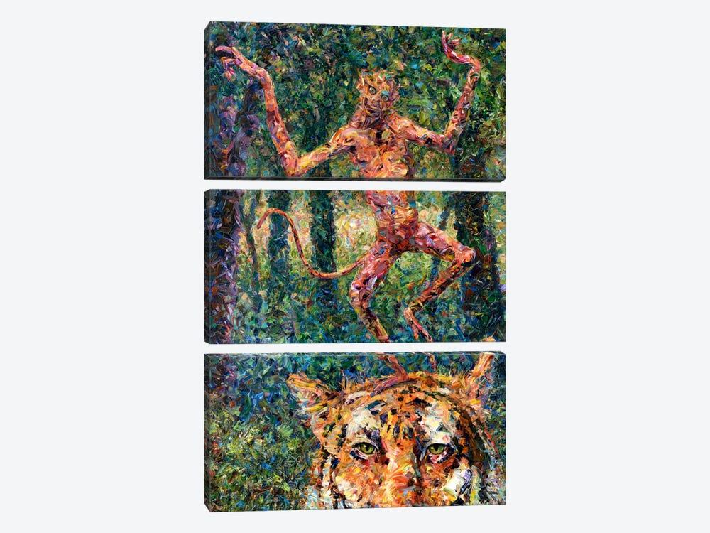 Crazy Monkey by James W. Johnson 3-piece Art Print