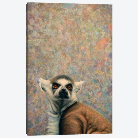 Lemur Canvas Print #JJN58} by James W. Johnson Art Print