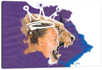 She is …. Fierce Canvas Art Print