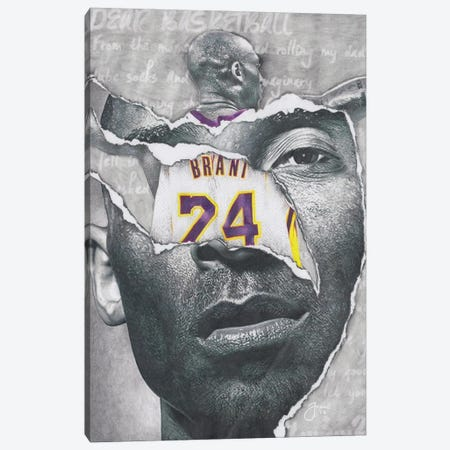 Dear, Basketball Canvas Print #JJS6} by Josiah Jones Canvas Artwork