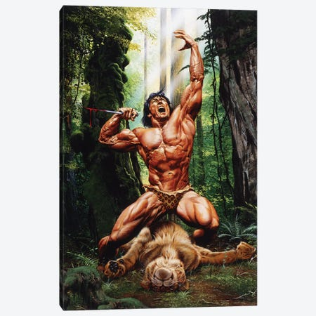 Lord of the Jungle Canvas Print #JJU13} by Joe Jusko Canvas Art