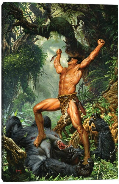Tarzan of the Apes 100th Anniversary Canvas Art Print