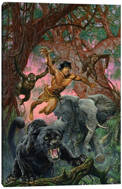 Beasts Of Tarzan Canvas Art Print