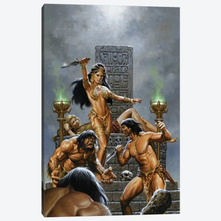 Return Of Tarzan Canvas Print #JJU29} by Joe Jusko Art Print