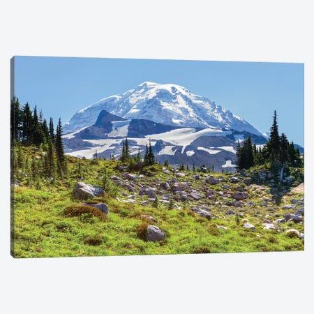 Snow-Covered Mount Rainier As Seen From Seattle Park, Mount Rainier National Park, Washington, USA Canvas Print #JJW18} by Jamie & Judy Wild Canvas Art