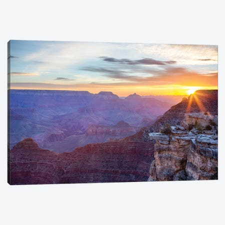 Arizona, Grand Canyon National Park, South Rim, Mather Point, Sunrise Canvas Print #JJW20} by Jamie & Judy Wild Art Print