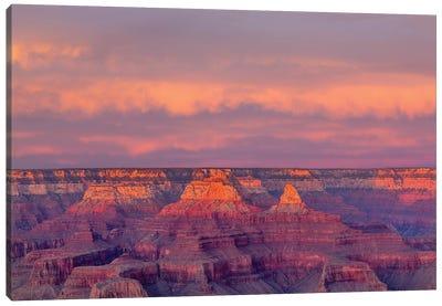 Arizona, Grand Canyon National Park, South Rim, Sunset Canvas Art Print