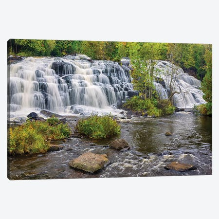 Michigan, Ontonagon County, Bond Falls II Canvas Print #JJW27} by Jamie & Judy Wild Canvas Artwork