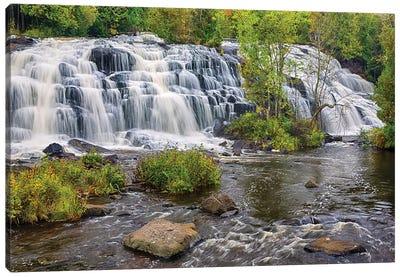 Michigan, Ontonagon County, Bond Falls II Canvas Art Print