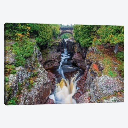 Minnesota, Temperance River State Park, Temperance River, gorge and waterfall Canvas Print #JJW28} by Jamie & Judy Wild Art Print
