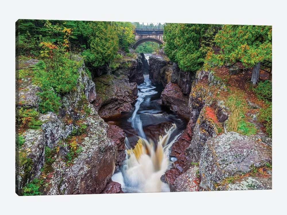 Minnesota, Temperance River State Park, Temperance River, gorge and waterfall by Jamie & Judy Wild 1-piece Canvas Wall Art