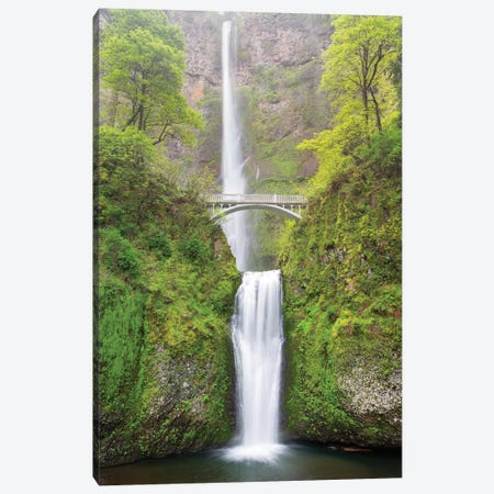 Oregon, Columbia River Gorge National Scenic Area, Multnomah Falls Canvas Print #JJW32} by Jamie & Judy Wild Canvas Art