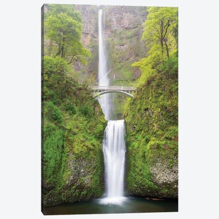 Oregon, Columbia River Gorge National Scenic Area, Multnomah Falls Canvas Print #JJW32} by Jamie & Judy Wild Canvas Art
