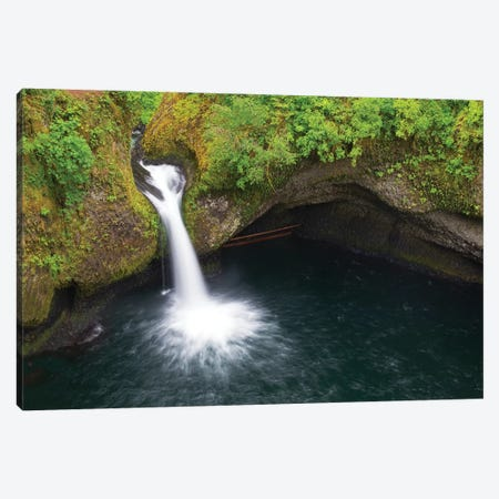 Oregon, Columbia River Gorge National Scenic Area, Punch Bowl Falls Canvas Print #JJW33} by Jamie & Judy Wild Canvas Wall Art