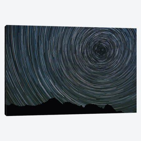 Washington State, Alpine Lakes Wilderness, Ingalls Pass, Star trails around Polaris Canvas Print #JJW34} by Jamie & Judy Wild Canvas Art Print