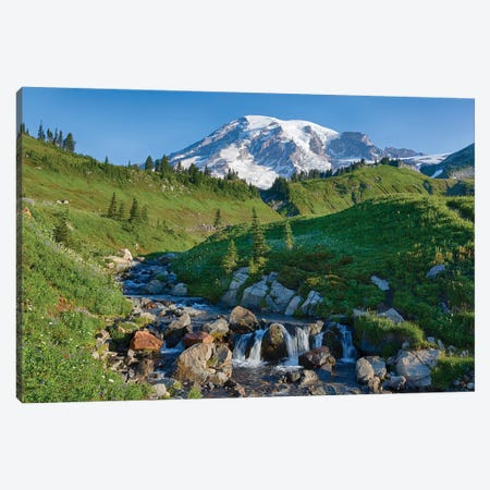 Washington State, Mount Rainier National Park, Edith Creek and Mount Rainier Canvas Print #JJW36} by Jamie & Judy Wild Art Print