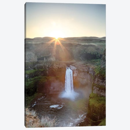 Washington State, Palouse Falls State Park, Palouse Falls, sunrise Canvas Print #JJW39} by Jamie & Judy Wild Canvas Wall Art
