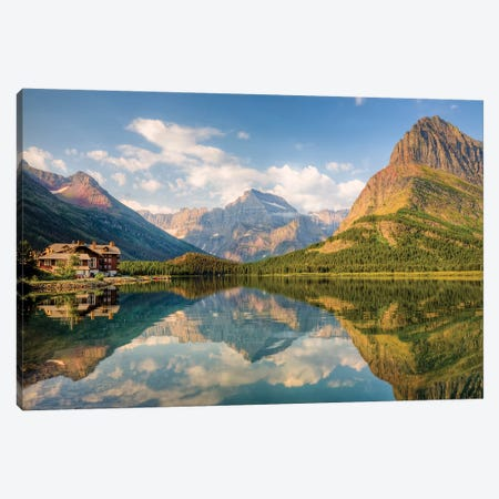 Many Glacier Hotel And Swiftcurrent Lake, Glacier National Park, Montana, USA Canvas Print #JJW3} by Jamie & Judy Wild Canvas Art Print