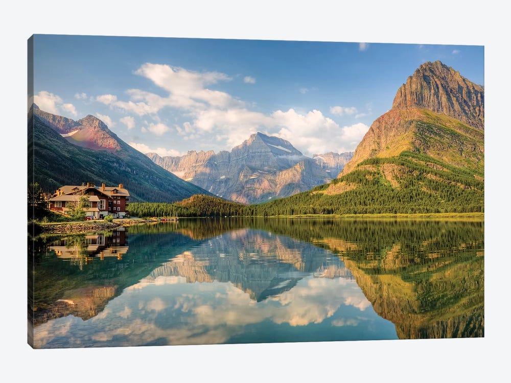 Many Glacier Hotel And Swiftcurrent Lake, Glacier National Park, Montana, USA by Jamie & Judy Wild 1-piece Canvas Artwork