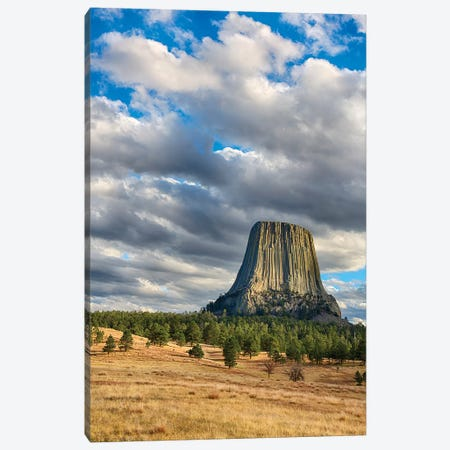 Wyoming, Devils Tower National Monument, Devils Tower Canvas Print #JJW40} by Jamie & Judy Wild Art Print