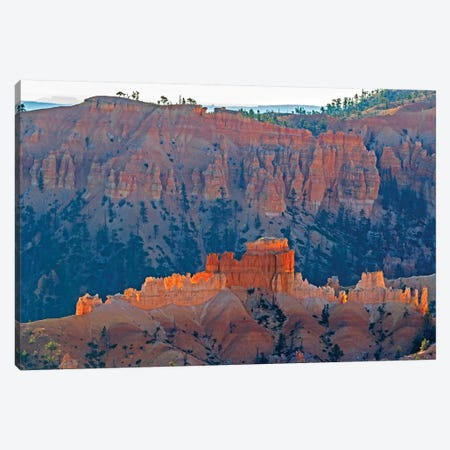 Utah, Bryce Canyon National Park. View of canyon with hoodoos Canvas Print #JJW49} by Jamie & Judy Wild Canvas Art Print