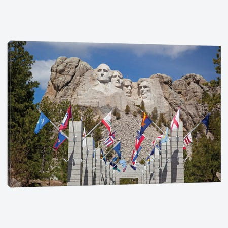 Avenue Of Flags, Grand View Terrace, Mount Rushmore National Memorial, Pennington County, South Dakota, USA Canvas Print #JJW4} by Jamie & Judy Wild Canvas Wall Art