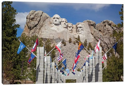 Avenue Of Flags, Grand View Terrace, Mount Rushmore National Memorial, Pennington County, South Dakota, USA Canvas Art Print