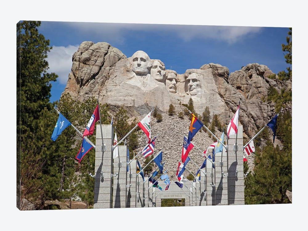Avenue Of Flags, Grand View Terrace, Mount Rushmore National Memorial, Pennington County, South Dakota, USA by Jamie & Judy Wild 1-piece Canvas Art Print