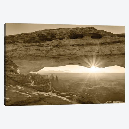 USA, Utah. Canyonlands National Park, Island in the Sky, Mesa Arch, sunrise. 3-Piece Canvas #JJW56} by Jamie & Judy Wild Art Print