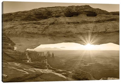 USA, Utah. Canyonlands National Park, Island in the Sky, Mesa Arch, sunrise. Canvas Art Print