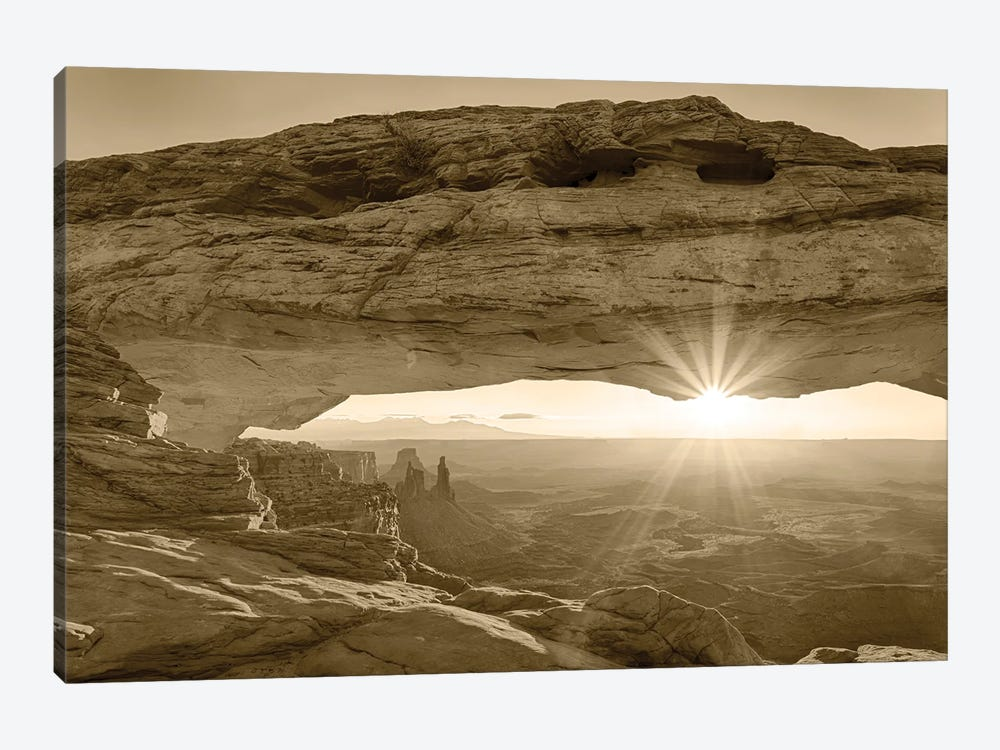 USA, Utah. Canyonlands National Park, Island in the Sky, Mesa Arch, sunrise. by Jamie & Judy Wild 1-piece Canvas Print