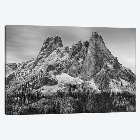 USA, Washington State. Okanogan National Forest, North Cascades, Liberty Bell and Early Winters Spires. Canvas Print #JJW59} by Jamie & Judy Wild Canvas Art