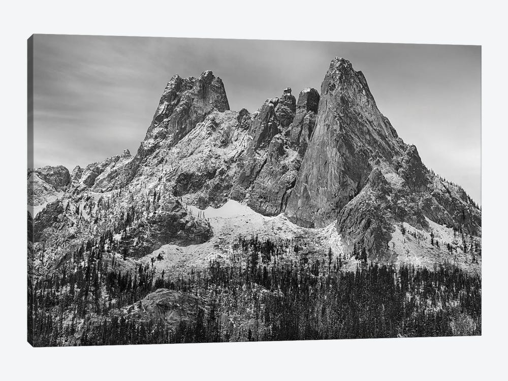 USA, Washington State. Okanogan National Forest, North Cascades, Liberty Bell and Early Winters Spires. by Jamie & Judy Wild 1-piece Canvas Artwork