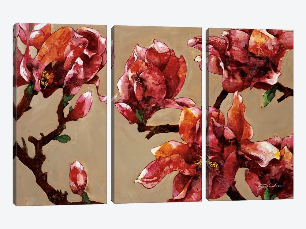 Elegant Magnolia by Joyce Kamikura 3-piece Canvas Art Print