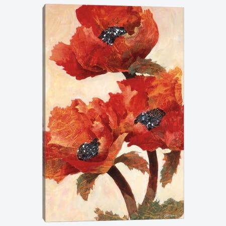 Poppies I 3-Piece Canvas #JKA2} by Joyce Kamikura Canvas Print