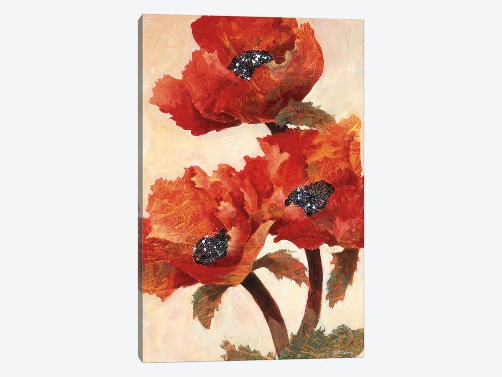 Poppies I by Joyce Kamikura 1-piece Canvas Art