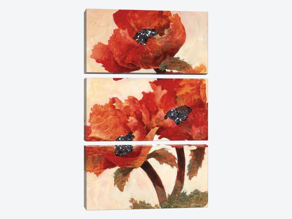 Poppies I by Joyce Kamikura 3-piece Canvas Art